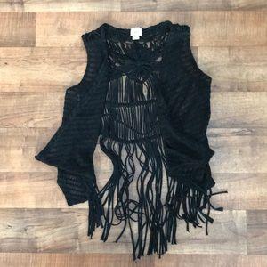 Daytrip medium black boho vest